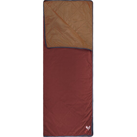 Grüezi-Bag WellhealthBlanket Wool Home Set with Cotton Bag, dark red/rusty orange